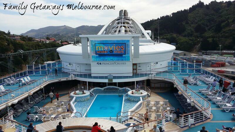 Movies under the Stars on the Golden Princess cruise ship