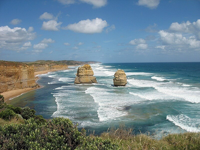 Scenery along the Great Ocean Road Australia