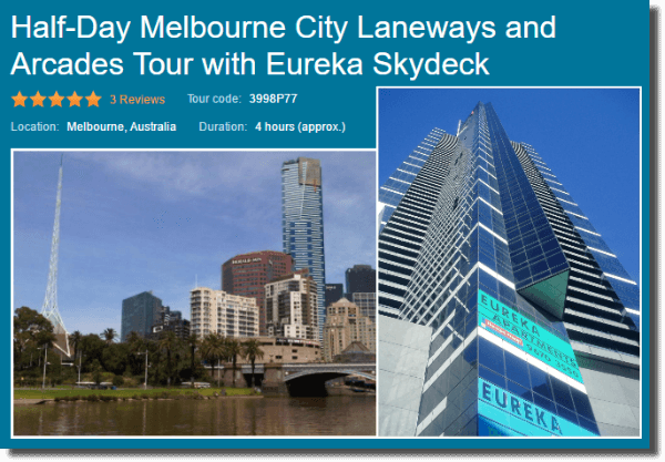 Half day Eureka and Laneways Viator tour