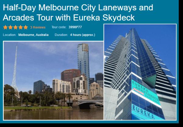 Half day Eureka and Laneways Viator tour
