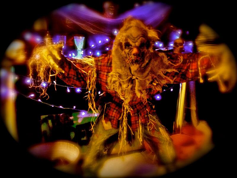 Terrifying harvest scarecrow costume