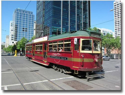 City Circle Tram Melbourne Australia compliments of http://www.flickr.com/photos/terrazzo/6286718784/