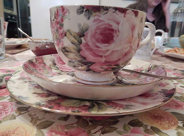 Typical tea cup, plate and saucer used for High teas compliments of https://flic.kr/p/fu6UY4