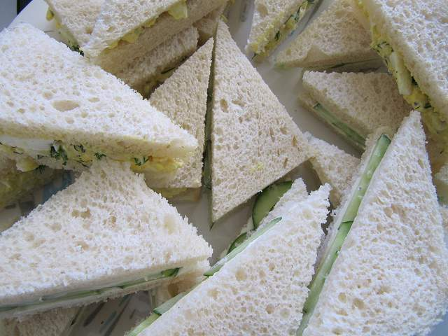 Elegant High Tea Crustless Finger Sandwiches compliments of https://flic.kr/p/8wPCWA