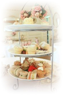 traditional tiered cake platter used for High Teas