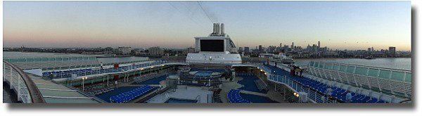 Arriving back in Melbourne on the Dawn Princess
