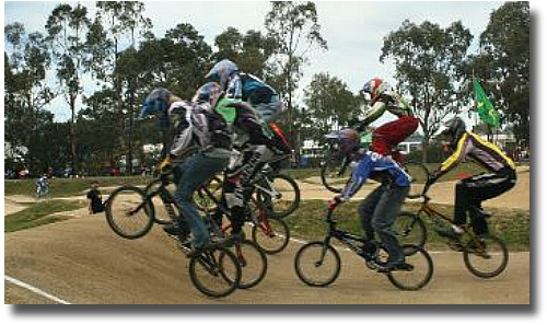 Racing On The Kilsyth BMX Track