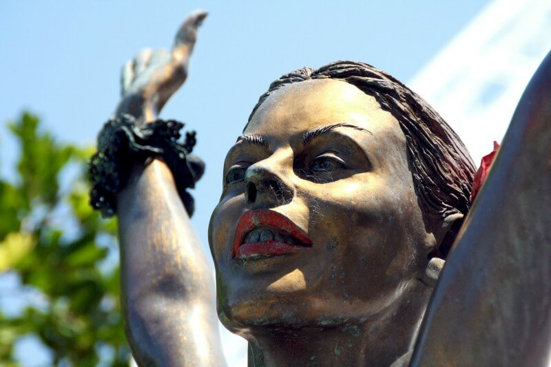 Kylie Minogue statue in Docklands Precinct