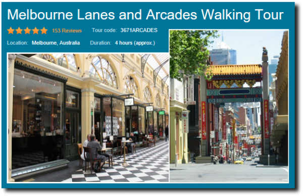 Lanes and arcades of melbourne walking tour image