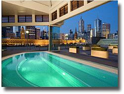 Langham Hotel pool Melbourne Australia