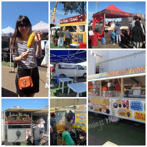 Food Vans at the Laverton Market south west of Melbourne