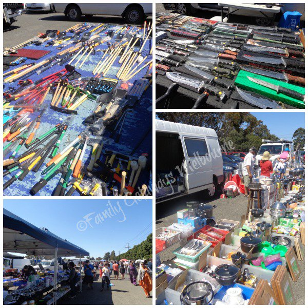 Tools and Kitchenware for sale at the Laverton Market