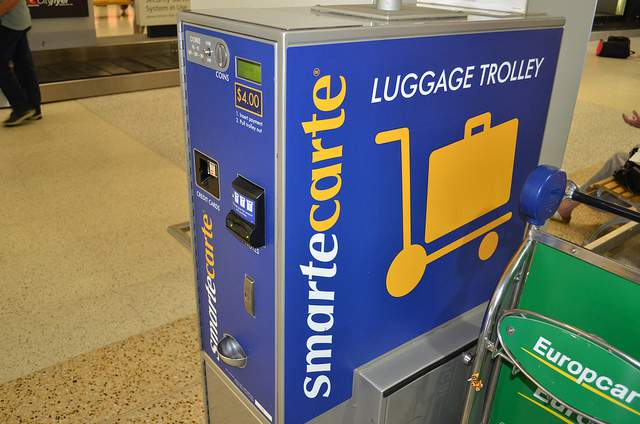 Hire luggage trolly at airport compliments of https://flic.kr/p/aH8upc