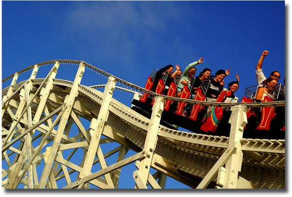 Riding Melbourne's Luna Park Scenic Railway compliments of http://www.flickr.com/photos/91256982@N00/421873170/