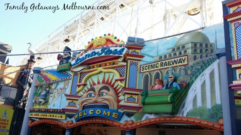 Luna Park just for fun in Melbourne, Australia
