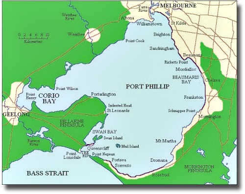 Map of Port Phillip Bay