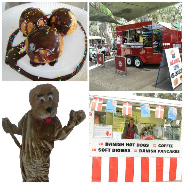 Mascot and Food stalls at D.J's Market in Narre Warren South