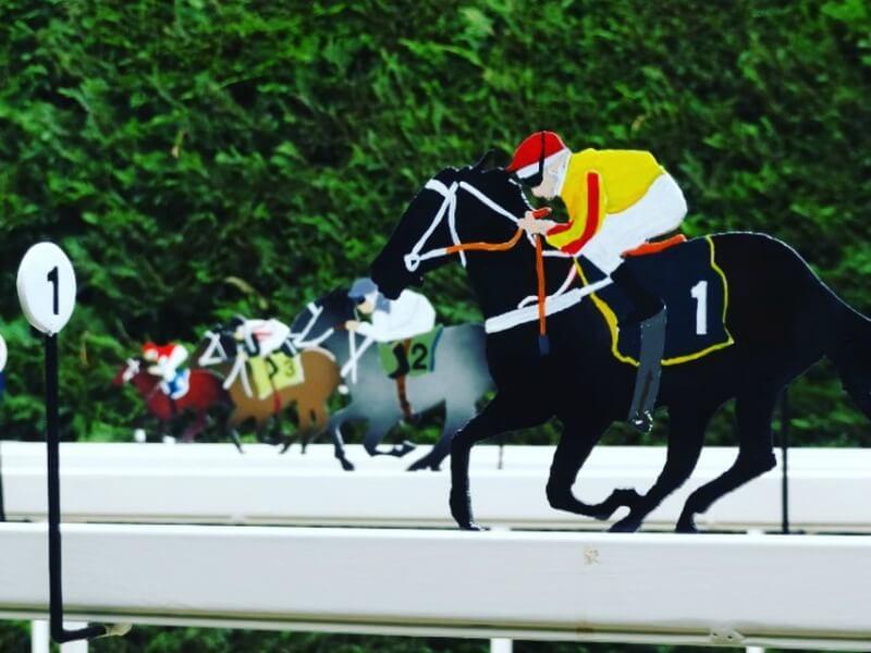 Donald Molloy Drum's tin horse racing game at Maze House