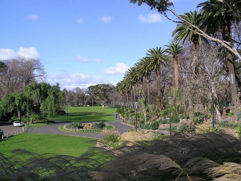 Alexandra Gardens on the banks of the Yarra River