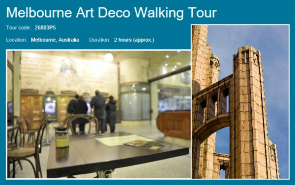 art deco melbourne walking tour image