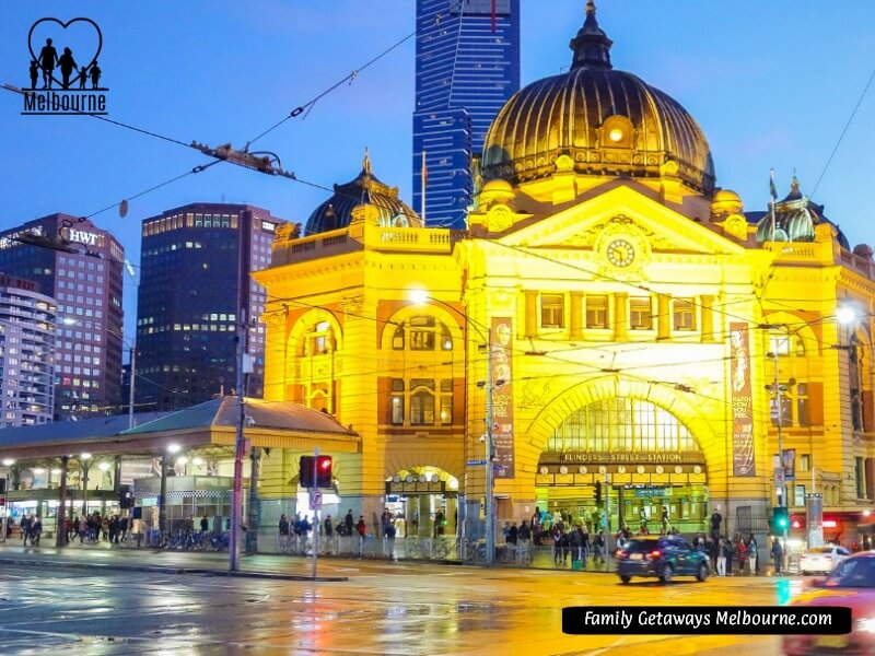 Melbourne on a wet night