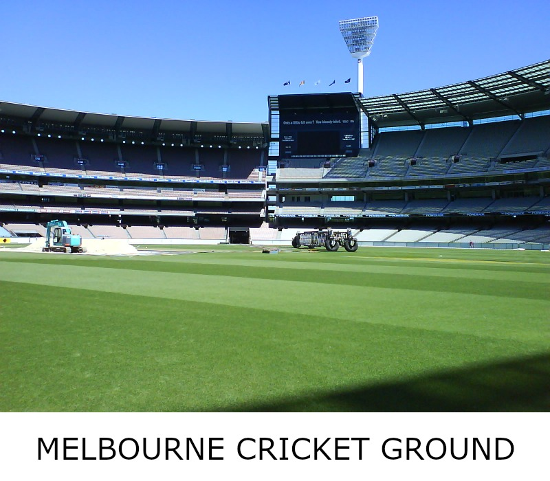 Image link to site page for more information on the Melbourne's hallowed sporting arena - the MCG