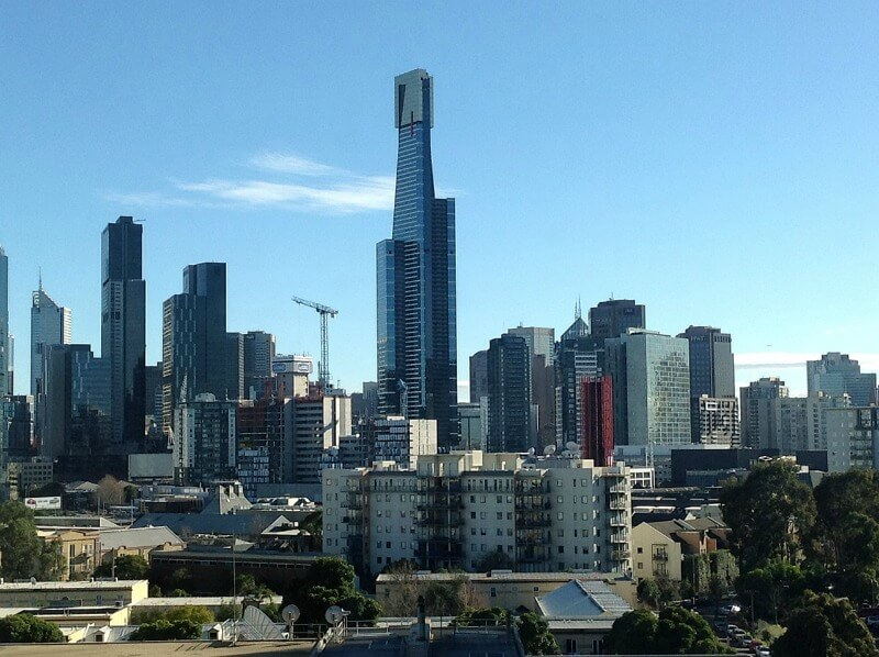 The Eureka Tower in Melbourne, Australia