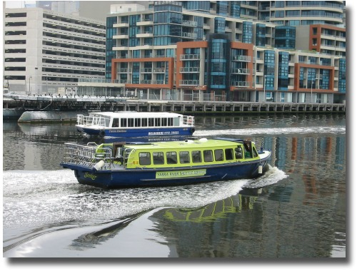 Ferry cruises along the yarra River Melbourne Australia