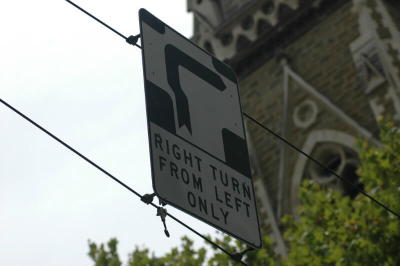 Melbourne Hook Turn sign compliments of https://flic.kr/p/z5Fvt