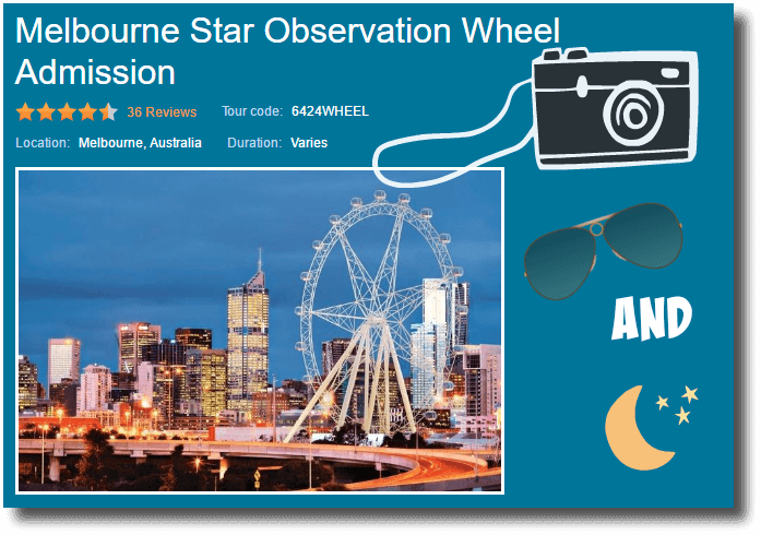 Melbourne Star Observation Wheel image for the Viator ride booking