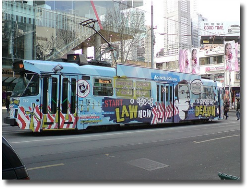 Decorated Melbourne Tram