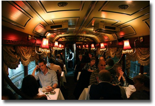 Melbourne tram restaurant compliments of  http://www.flickr.com/photos/macinate/2444427711/