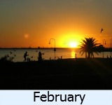 thumbnail image to the site weather page in February