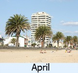 thumbnail image to the site weather page in April