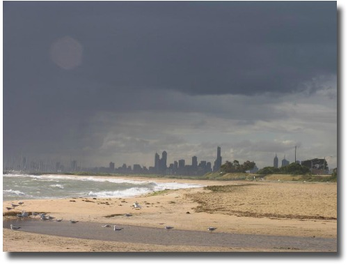 Storm clouds over Brighton Beach compliments of my mate Steve Curle