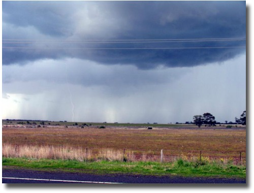 Storm chasing out at Diggers Rest compliments of my mate Steve Curle