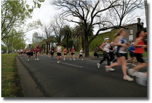 Melbourne Marathon compliments of http://www.flickr.com/photos/mandykoh/2933492118/