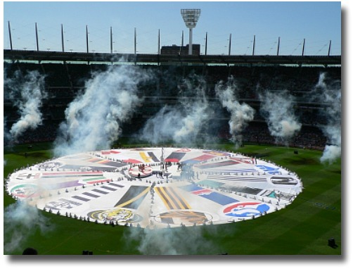 Grand Final celebrations at the MCG
