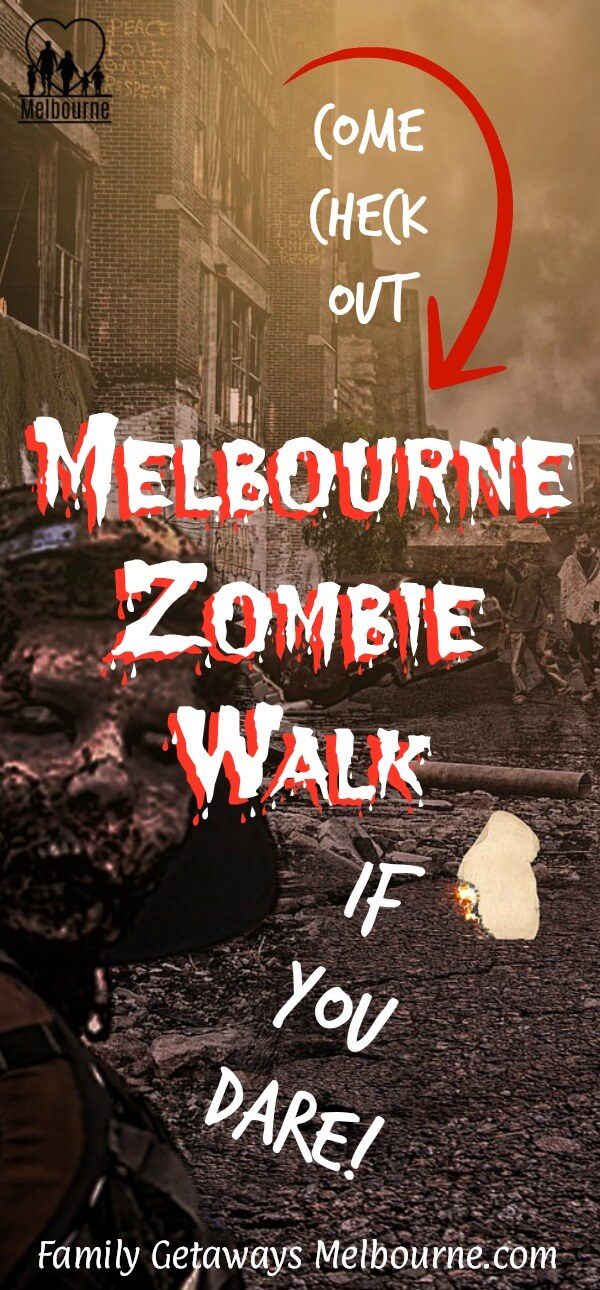 image to pin to Pinterest for the site page on the Melbourne Zombie Walk