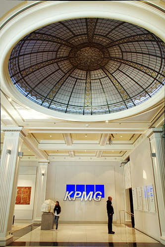 The ground floor Banking Chamber of the old T&G Building Collins Street compliments of www.flickr.com/photos/little_yiye/4862355835/