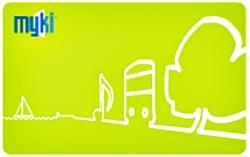 MYKI Public tranport ticket