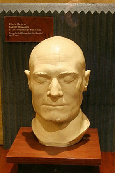 Death Mask Of Prisoner Deeming at Old Melbourne Gaol