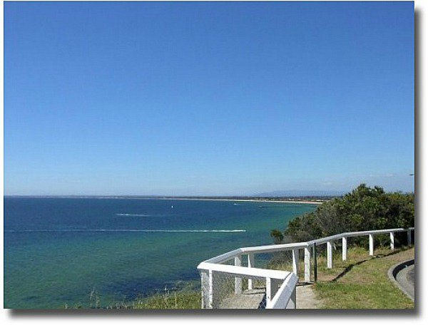 View over Port Phillip Bay from Olivers Hill Frankston in Victoria, Australia