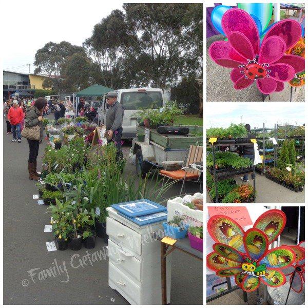 selection gardening market stalls at pakenham market