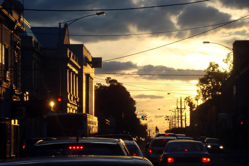 Evening Peak Hour in Brunswick compliments of https://flic.kr/p/8wBu28