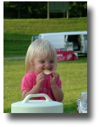 little girl at a picnic