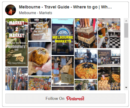 Pinterest Melbourne Markets board