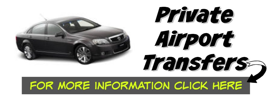 Links to private airport transfers arranged through Viator