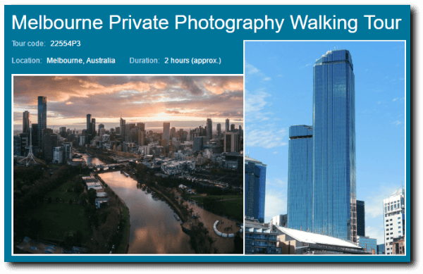 private photography tour for beginners