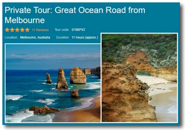 Private tour of the Great Ocean Road